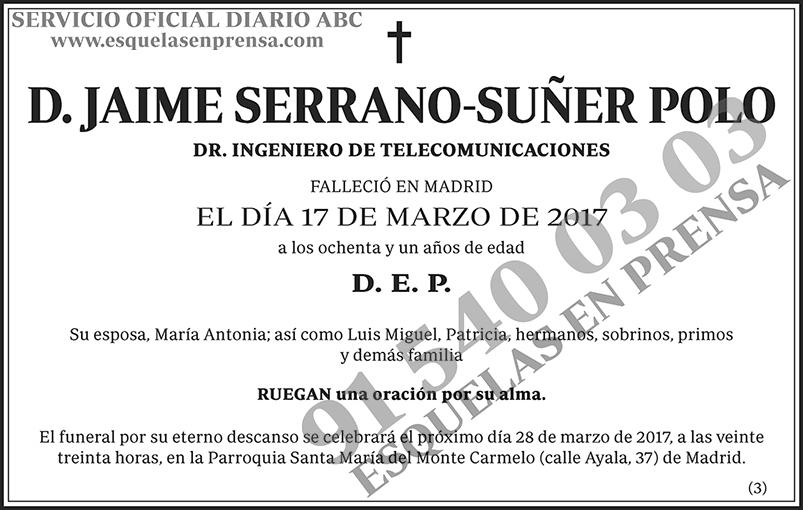 Jaime Serrano-Suñer Polo